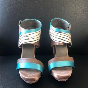 Balenciaga runway - platform covered heel